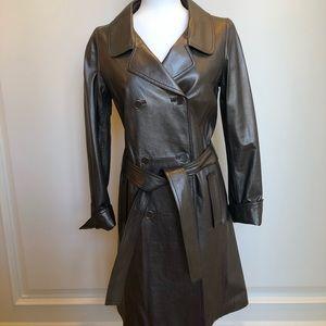Ellie Tahari Women's Leather Coat